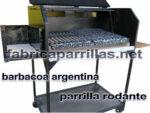 parrilla barbacoa argentina rodante enlozada fabricante asado