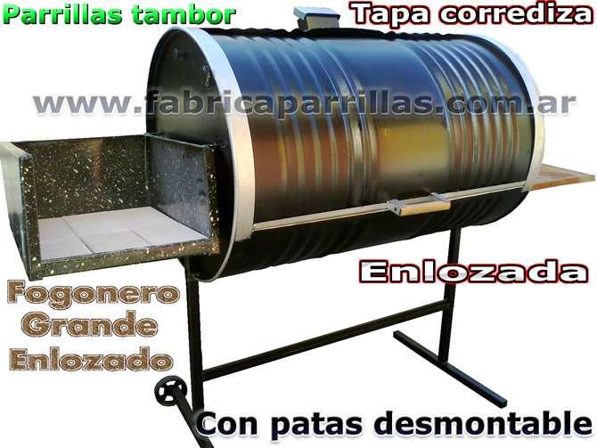 fabricante de parrillas tambor con tapa corrediza