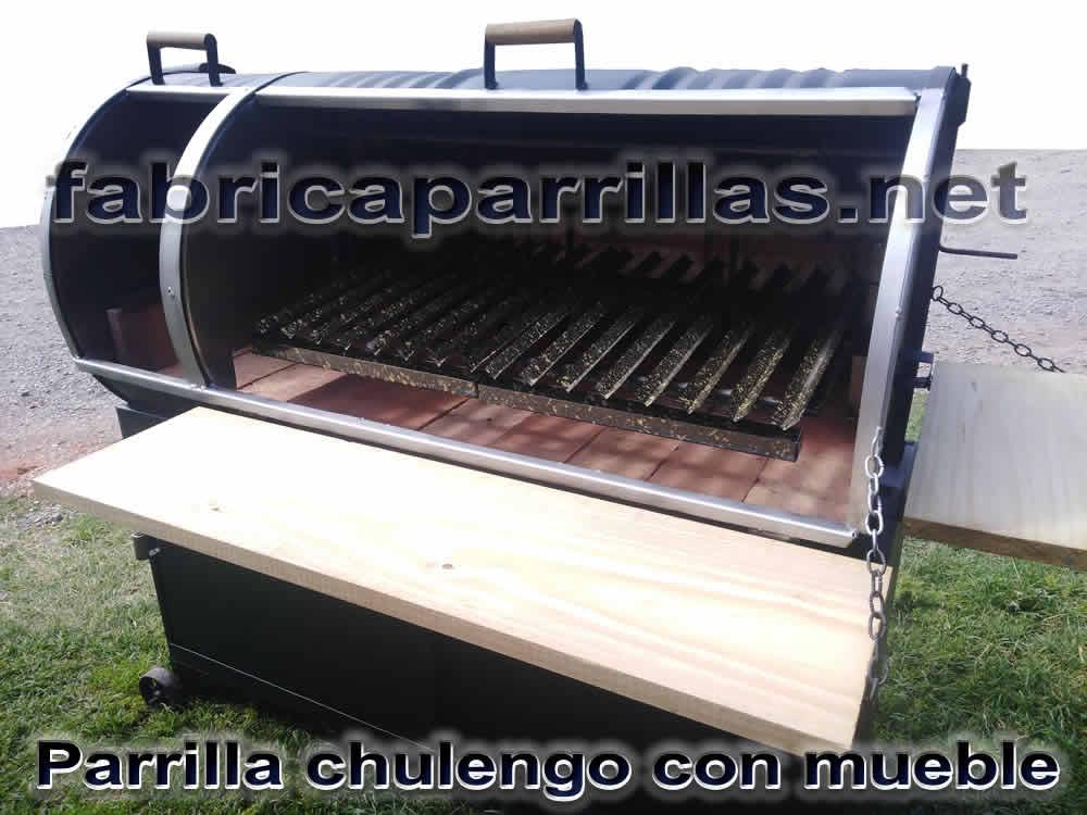 Parrilla Tambor Modelo XXL con mueble Chulengo Diferentes Modelos Mira
