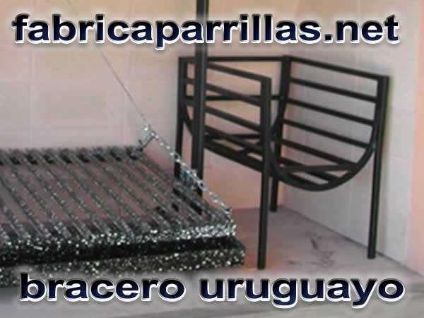 Bracero uruguayo para parrillas